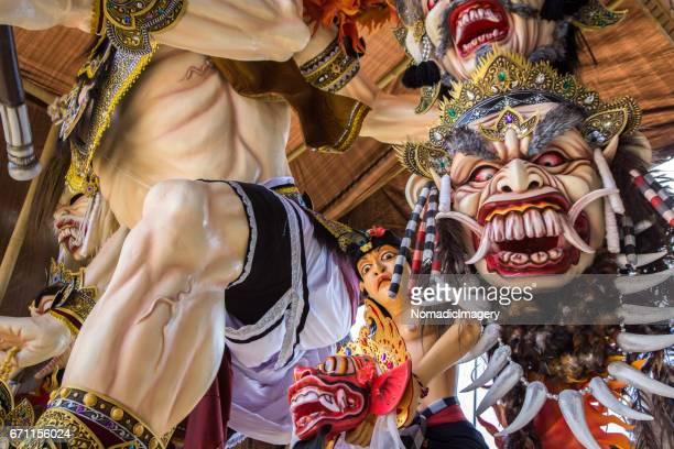 Many faces of Ogoh-Ogoh symbolic Balinese monster