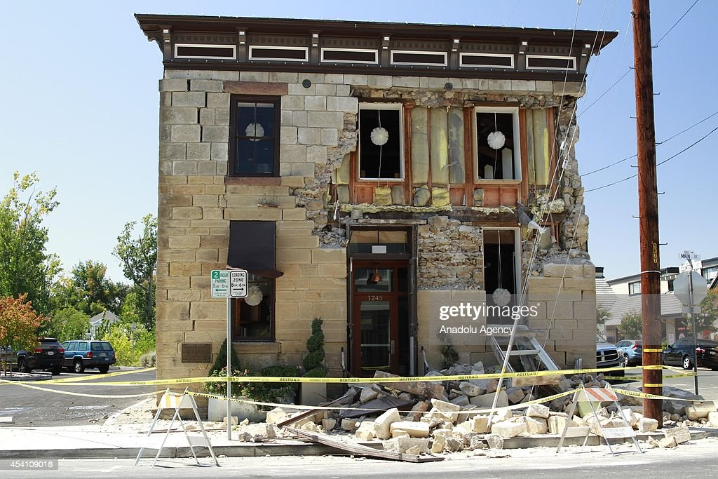 Many historic buildings get damaged in a magnitude-6.0 quake, which ruptured water mains and gas lines and damaged some of the regions famed wineries, in Napa, California, United States on August 24, 2014.