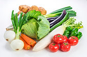 Many kinds of vegetables
