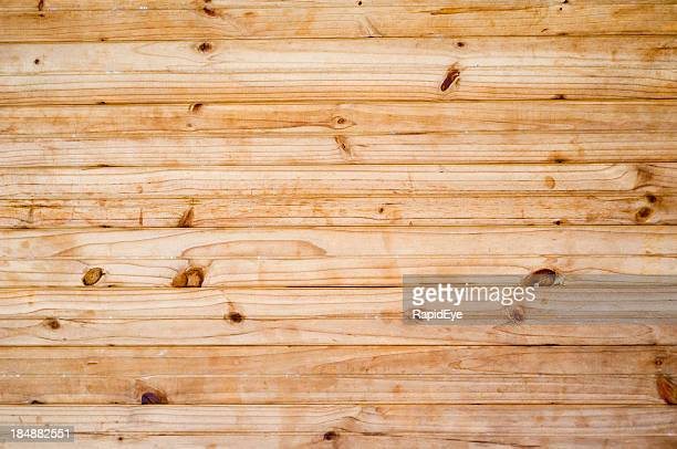 Many knotty pine boards for background or texture