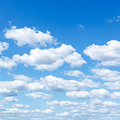 natural background - many little white clouds in summer blue sky