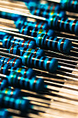 many new resistors stay together in close ups