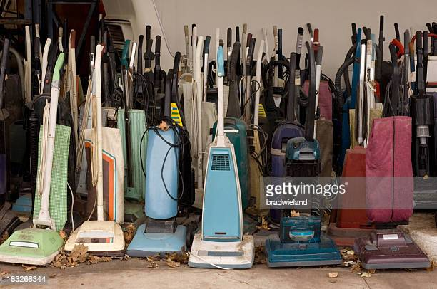 Many Old Vacuum Cleaners