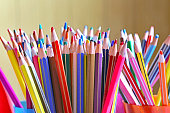 pencils in classroom nursery daycare without children