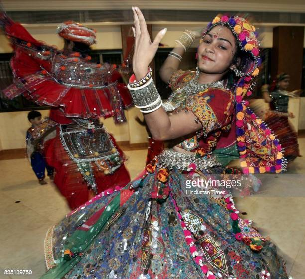Many people like 17 year old Jinal Jobalia join dance classes a month before Navratri so that they can take part in contests