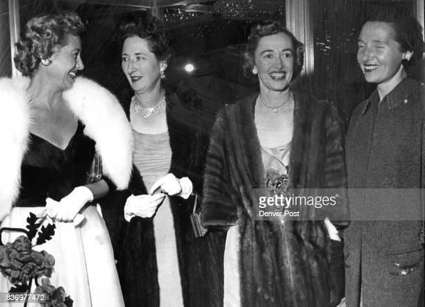 Many regular first nighters were in the crowd at the opening including Mmes WJ Burkhardt Harold Taft King Jess Egurrola and Joseph Uhl Mrs Burkhardt...