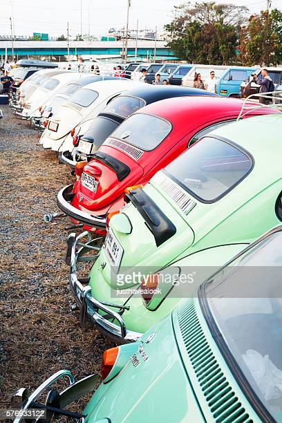 Many VW Beetle oldtimers