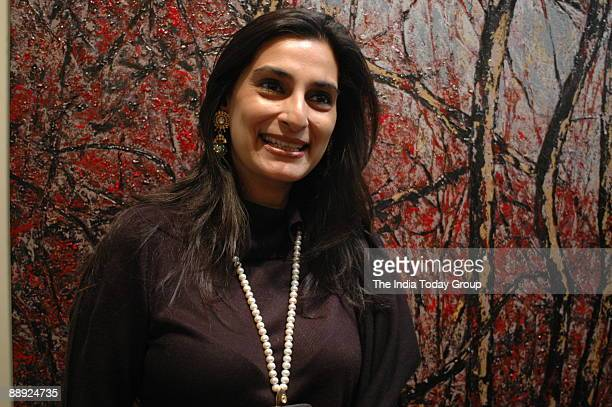 Manya Shetty wife of actor Sunil Shetty at Lalit Kala Academy New Delhi where she opened her art exhibition