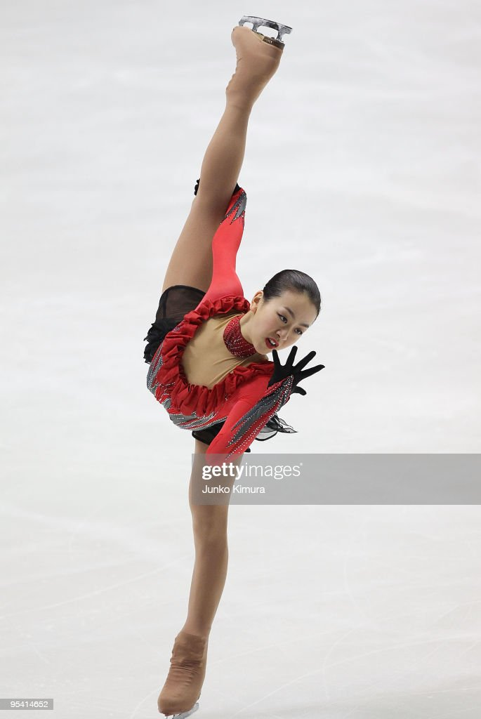 Mao Asada competes in the Ladies Free Skating on the day three of the 78th All Japan Figure Skating Championship at Namihaya Dome on December 27, 2009 in Osaka, Japan.