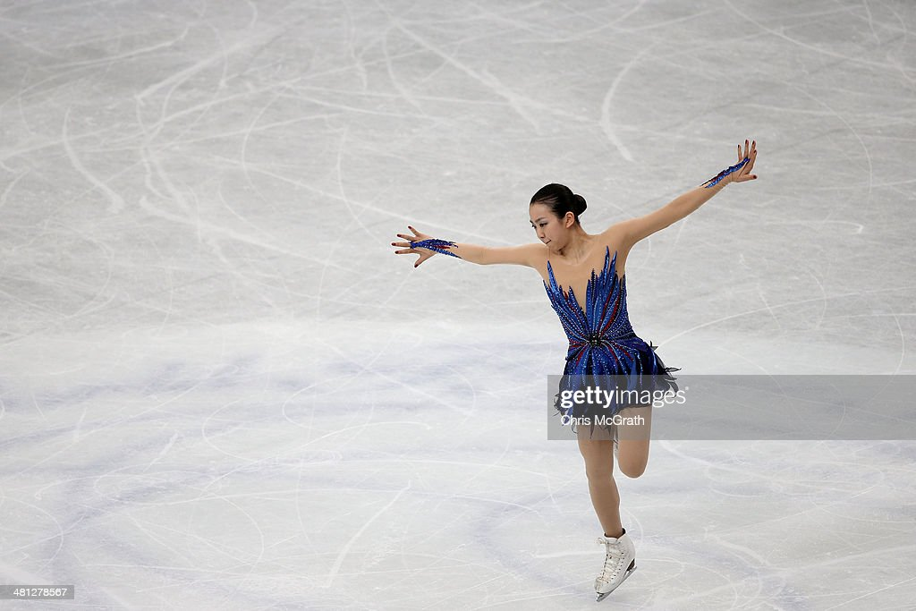 <a gi-track='captionPersonalityLinkClicked' href=/galleries/search?phrase=Mao+Asada&family=editorial&specificpeople=247229 ng-click='$event.stopPropagation()'>Mao Asada</a> of Japan competes in the Ladies Free Skating during ISU World Figure Skating Championships at Saitama Super Arena on March 29, 2014 in Saitama, Japan.