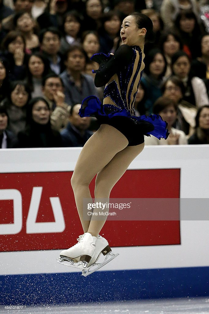 <a gi-track='captionPersonalityLinkClicked' href=/galleries/search?phrase=Mao+Asada&family=editorial&specificpeople=247229 ng-click='$event.stopPropagation()'>Mao Asada</a> of Japan competes in the Ladies Free Skating Final during day three of the ISU Grand Prix of Figure Skating Final 2013/2014 at Marine Messe Fukuoka on December 7, 2013 in Fukuoka, Japan.