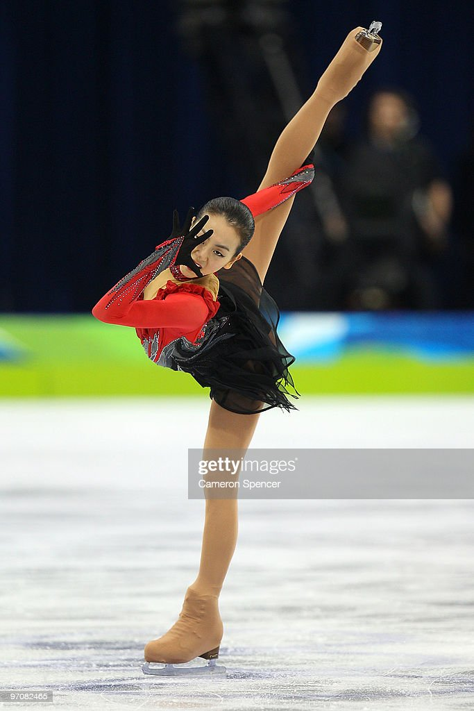 <a gi-track='captionPersonalityLinkClicked' href=/galleries/search?phrase=Mao+Asada&family=editorial&specificpeople=247229 ng-click='$event.stopPropagation()'>Mao Asada</a> of Japan competes in the Ladies Free Skating on day 14 of the 2010 Vancouver Winter Olympics at Pacific Coliseum on February 25, 2010 in Vancouver, Canada.