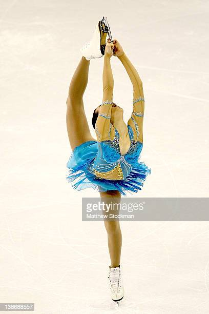 Mao Asada of Japan competes in the Ladies Short Program during the ISU Four Continents Figure Skating Championships at World Arena on February 10...