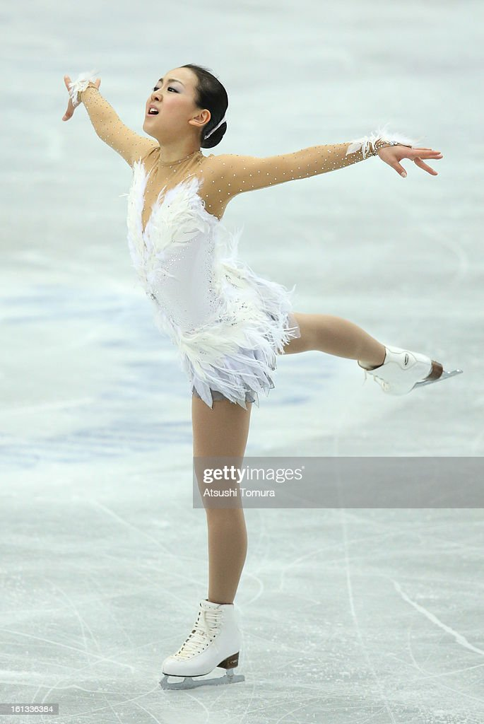 <a gi-track='captionPersonalityLinkClicked' href=/galleries/search?phrase=Mao+Asada&family=editorial&specificpeople=247229 ng-click='$event.stopPropagation()'>Mao Asada</a> of Japan competes in the Women's Free Skating during day three of the ISU Four Continents Figure Skating Championships at Osaka Municipal Central Gymnasium on February 10, 2013 in Osaka, Japan.