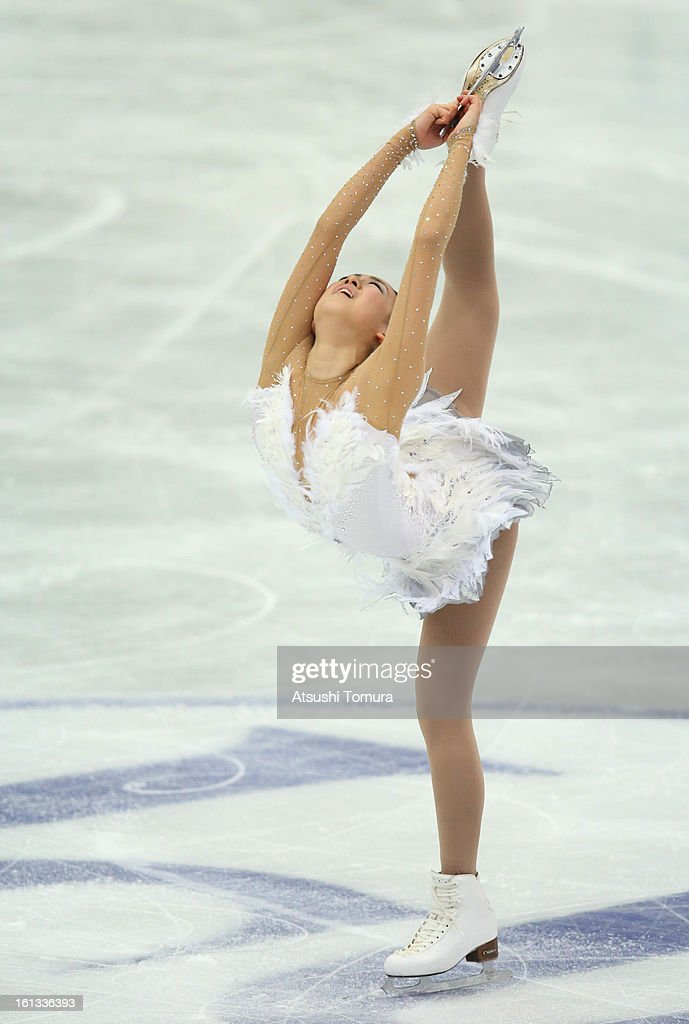 Mao Asada of Japan competes in the Women's Free Skating during day three of the ISU Four Continents Figure Skating Championships at Osaka Municipal Central Gymnasium on February 10, 2013 in Osaka, Japan.