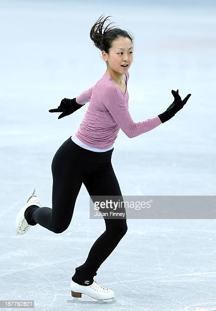 Mao Asada of Japan in a training session during the Grand Prix of Figure Skating Final 2012 at the Iceberg Skating Palace on December 6 2012 in Sochi...