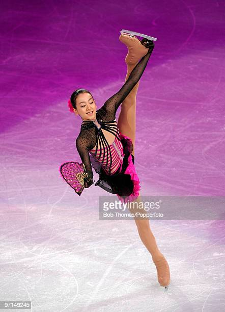 Mao Asada of Japan performs at the Exhibition Gala following the Olympic figure skating competition at Pacific Coliseum on February 27 2010 in...