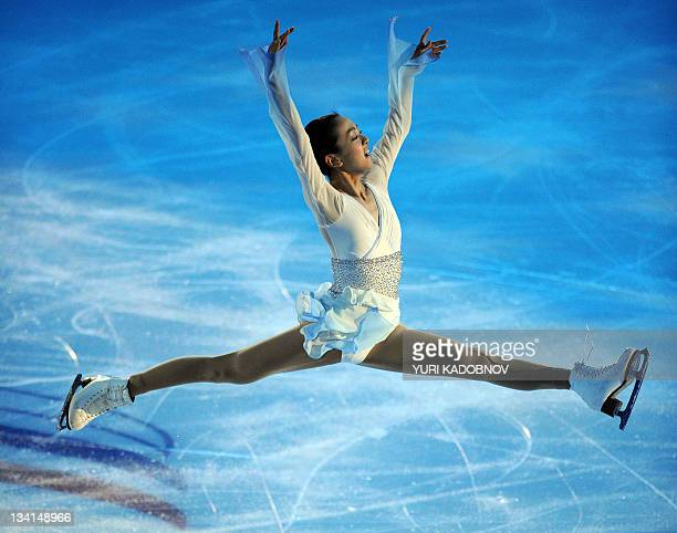 Mao Asada of Japan performs during a Gala exhibition at the figure skating Grand Prix in Moscow on November 27 2011 AFP PHOTO / YURI KADOBNOV