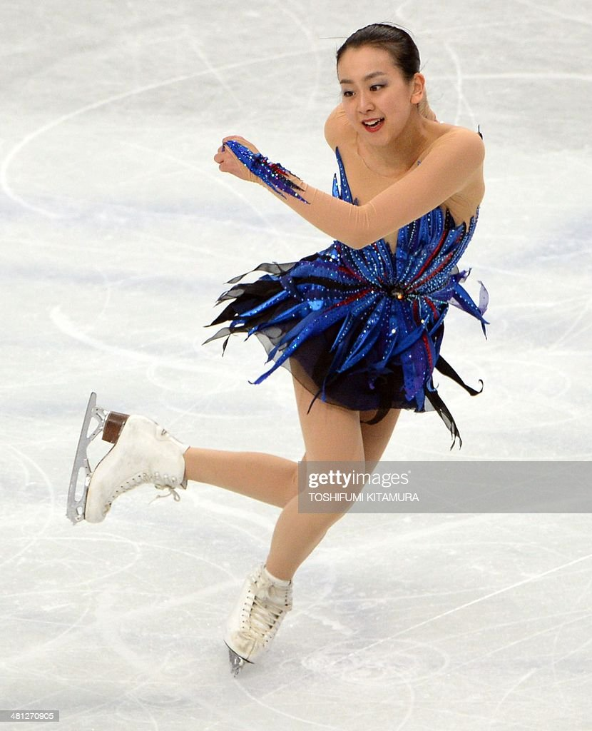 Mao Asada of Japan performs during her women's singles free skating event at the world figure skating championships in Saitama on March 29, 2014.