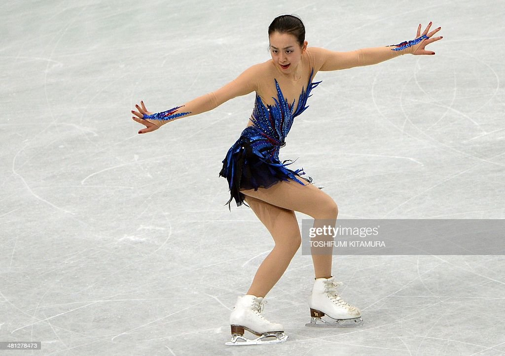 Mao Asada of Japan performs during her women's singles free skating event at the world figure skating championships in Saitama, on March 29, 2014.