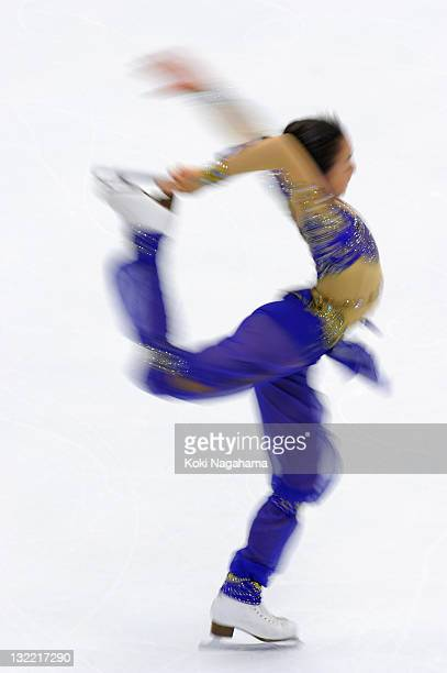 Mao Asada of Japan performs in the women's singles during day one of the ISU Grand Prix of Figure Skating NHK Trophy at Makomanai Sekisui Heim Arena...
