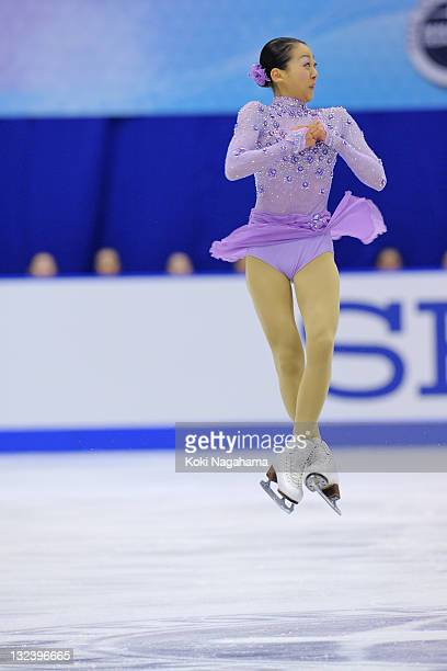Mao Asada of Japan performs in the women's singles during day two of the ISU Grand Prix of Figure Skating NHK Trophy at Makomanai Sekisui Heim Arena...