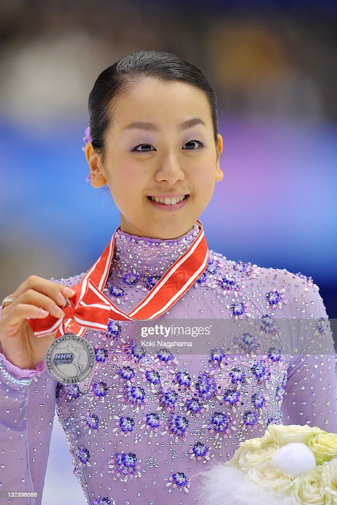 <a gi-track='captionPersonalityLinkClicked' href=/galleries/search?phrase=Mao+Asada&family=editorial&specificpeople=247229 ng-click='$event.stopPropagation()'>Mao Asada</a> of Japan poses for photograghs in the women's singles during day two of the ISU Grand Prix of Figure Skating NHK Trophy at Makomanai Sekisui Heim Arena on November 12, 2011 in Sapporo, Japan.