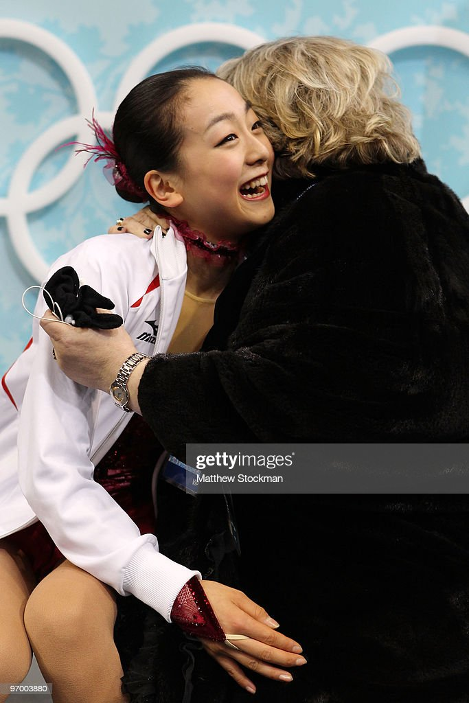 <a gi-track='captionPersonalityLinkClicked' href=/galleries/search?phrase=Mao+Asada&family=editorial&specificpeople=247229 ng-click='$event.stopPropagation()'>Mao Asada</a> of Japan sits in the kiss and cry area in the Ladies Short Program Figure Skating on day 12 of the 2010 Vancouver Winter Olympics at Pacific Coliseum on February 23, 2010 in Vancouver, Canada.