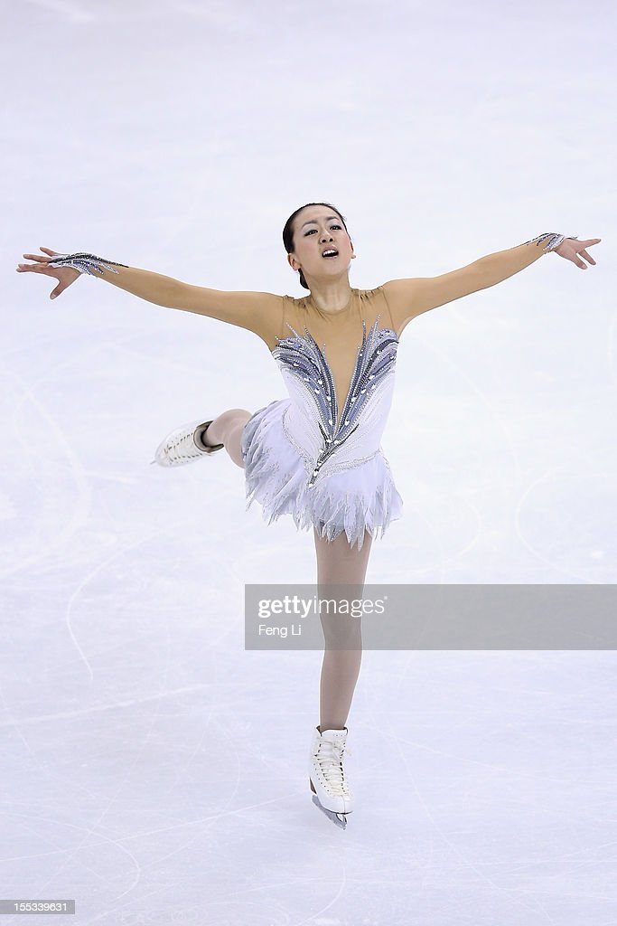 <a gi-track='captionPersonalityLinkClicked' href=/galleries/search?phrase=Mao+Asada&family=editorial&specificpeople=247229 ng-click='$event.stopPropagation()'>Mao Asada</a> of Japan skates in Ladies Free Skating during Cup of China ISU Grand Prix of Figure Skating 2012 at the Oriental Sports Center on November 3, 2012 in Shanghai, China.