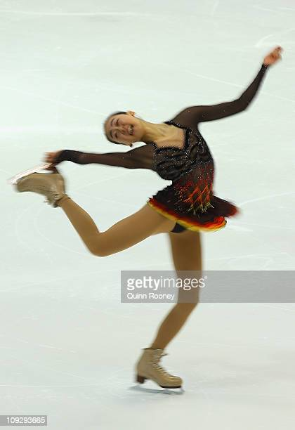 Mao Asada of Japan skates in the Ladies Short Program during day three of the Four Continents Figure Skating Championships at Taipei Arena on...