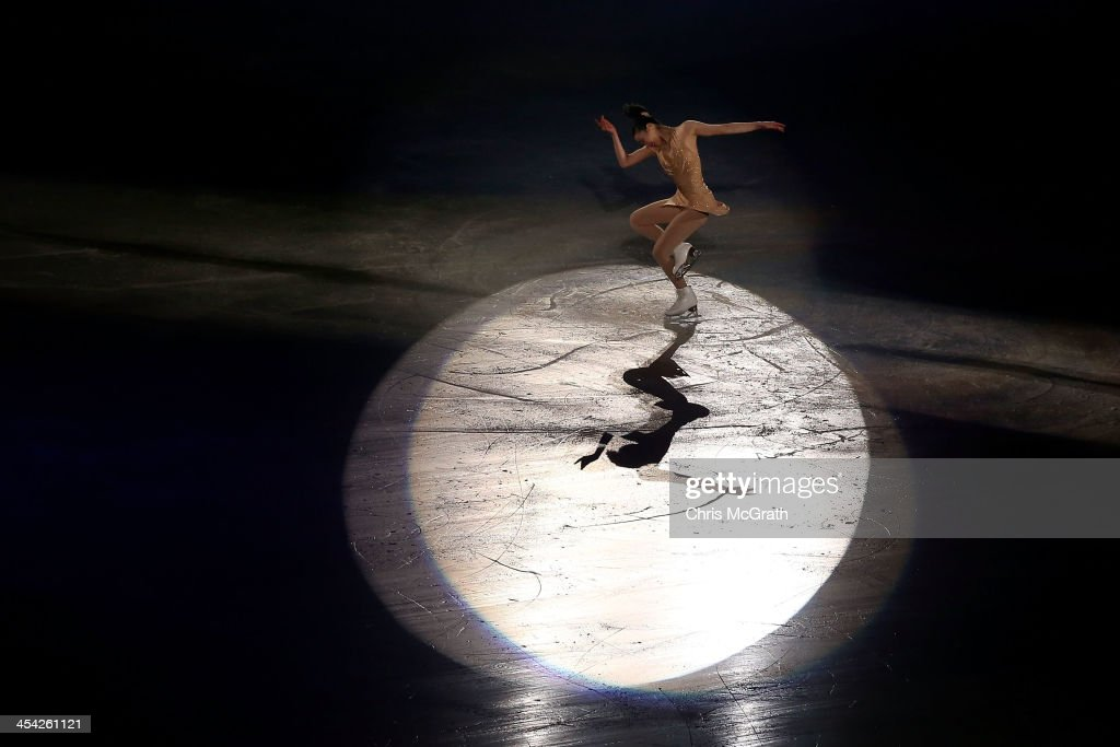 <a gi-track='captionPersonalityLinkClicked' href=/galleries/search?phrase=Mao+Asada&family=editorial&specificpeople=247229 ng-click='$event.stopPropagation()'>Mao Asada</a> of Japan waves to the crowd after her routine in the ISU Gala during day four of the ISU Grand Prix of Figure Skating Final 2013/2014 at Marine Messe Fukuoka on December 8, 2013 in Fukuoka, Japan.