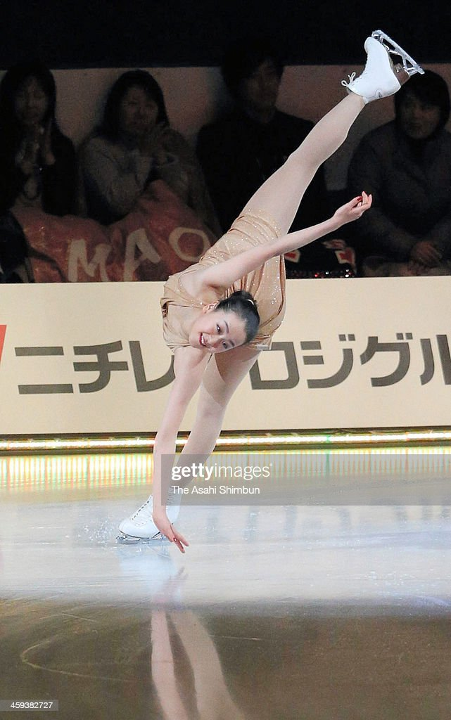 Mao Asada performs in the gala exhibition during day four of the 82nd All Japan Figure Skating Championships at Saitama Super Arena on December 24, 2013 in Saitama, Japan.