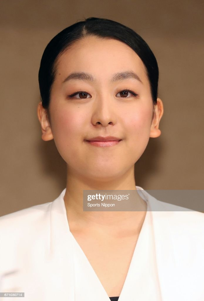 Mao Asada, three-time world figure skating champion and silver medalist at the 2010 Vancouver Olympics speaks during the press conference to announce her retirement from the figure skating career on April 12, 2017 in Tokyo, Japan.