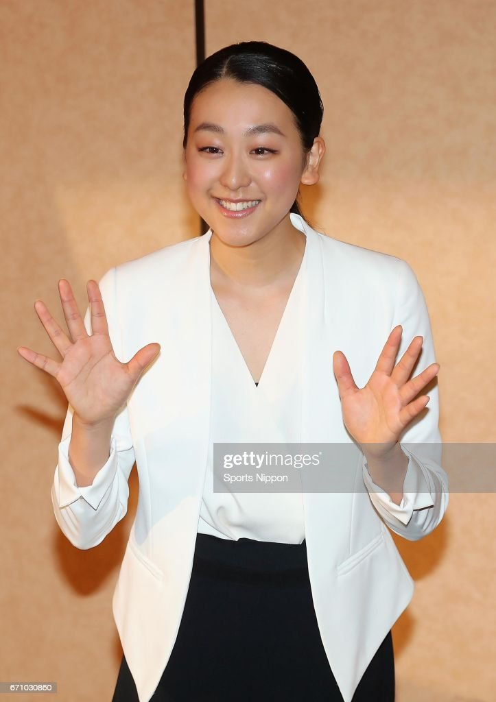 Mao Asada, three-time world figure skating champion and silver medalist at the 2010 Vancouver Olympics smiles during the press conference to announce her retirement from the figure skating career on April 12, 2017 in Tokyo, Japan.