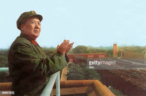 Mao Tse Toung chinese president here during review of army of The Great Proletarian Cultural Revolution in Pekin november 3 1967