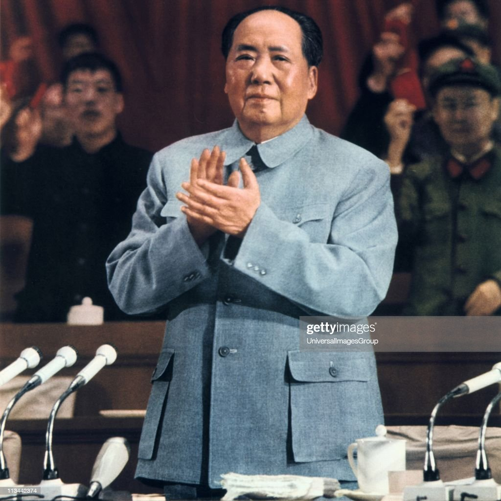 <a gi-track='captionPersonalityLinkClicked' href=/galleries/search?phrase=Mao+Tse-Tung&family=editorial&specificpeople=77863 ng-click='$event.stopPropagation()'>Mao Tse-Tung</a> (Mao Zedong) 1893-1976, Chinese Communist leader. Mao addressing a meeting.
