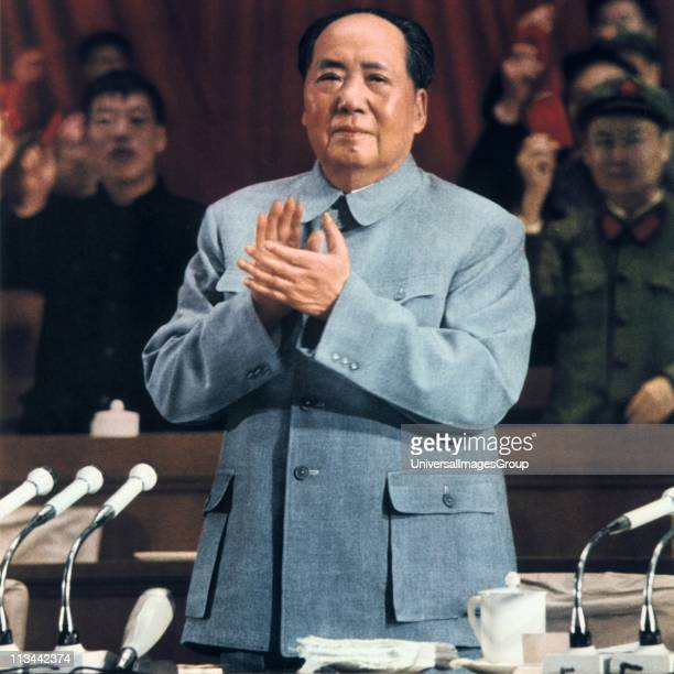 Mao TseTung 18931976 Chinese Communist leader Mao addressing a meeting