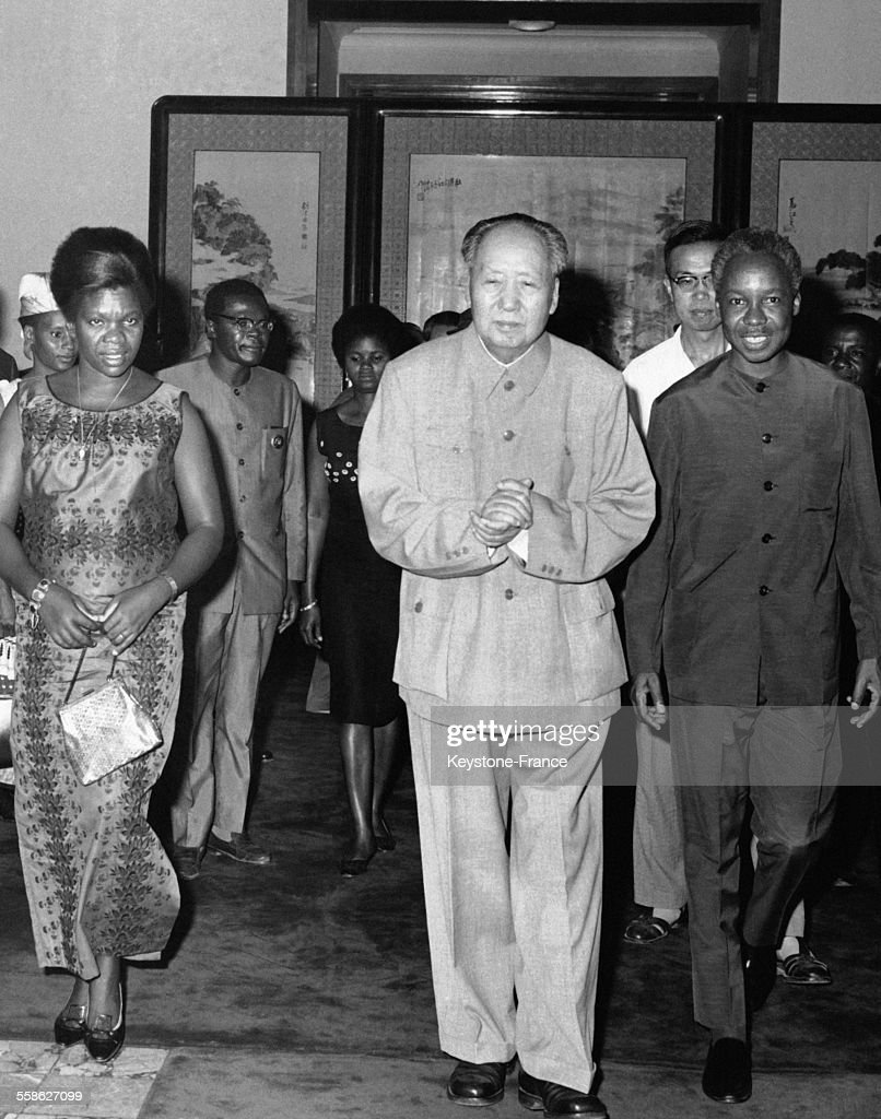 Mao Tsé-toung et le président de Tanzanie <a gi-track='captionPersonalityLinkClicked' href=/galleries/search?phrase=Julius+Nyerere&family=editorial&specificpeople=228294 ng-click='$event.stopPropagation()'>Julius Nyerere</a> pendant sa visite à Pékin, Chine en juin 1968.