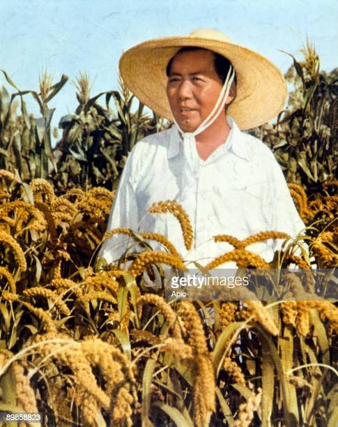Mao Zedong leader of chinese communist party president of Popular China 19491959 and 19681976 here c 1958