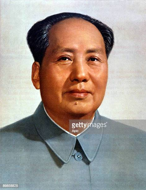 Mao Zedong leader of chinese communist party president of Popular China 19491959 and 19681976 here c1949