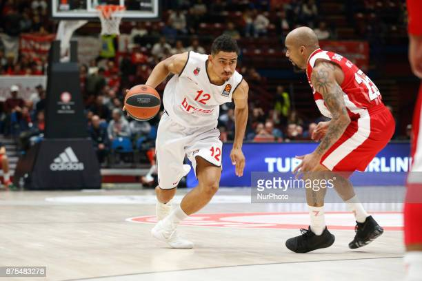 Maodo Lo drives to the basket during a game of Turkish Airlines EuroLeague basketball between AX Armani Exchange Milan vs Brose Bamberg at Mediolanum...