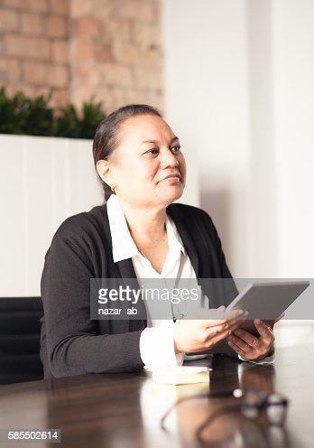 NZ Maori business woman. : Stock Photo