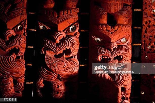 Maori carving, Museum of Auckland, New Zealand