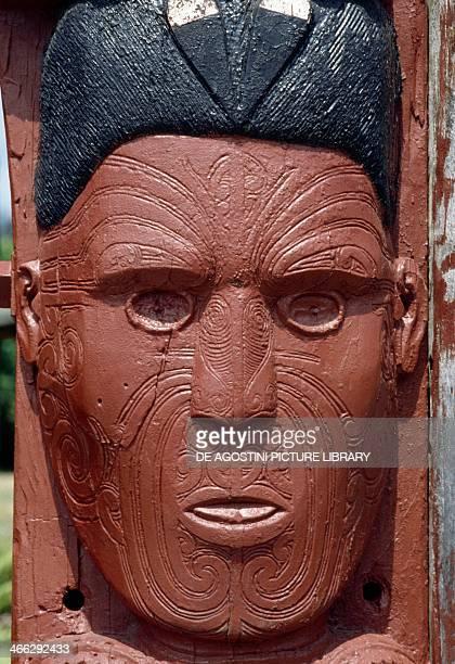 Maori carving Rotorua District New Zealand Maori civilisation