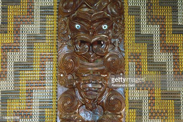 Maori carving, Tongariro National Park, North Island, New Zealand