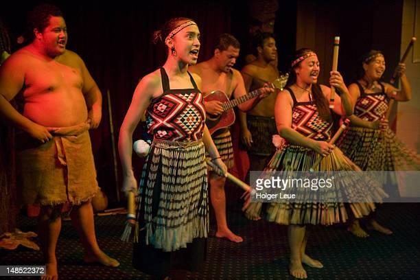 Maori cultural perfomance at Waitangi National Trust.