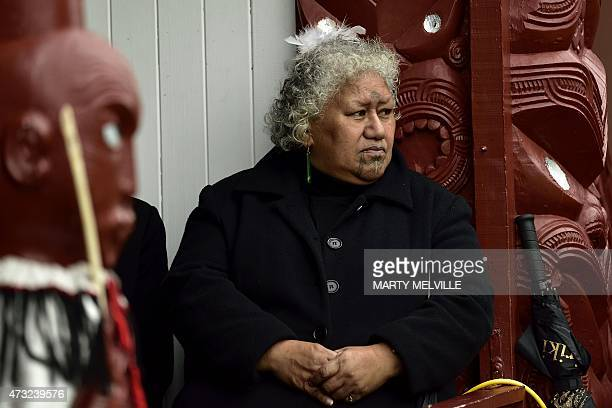 A Maori elder watches Britain's Prince Harry speak during his visit to Putiki Marae in Whanganui on May 14 2015 Prince Harry arrived in New Zealand...