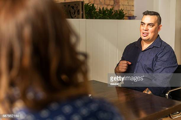 Maori Pacific Islander Entrepreneur Business People Meeting in New Zealand