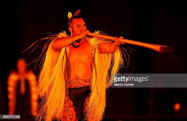 Maori performers during the Opening Ceremony ahead of the ICC 2015 Cricket World Cup at Hagley Park on February 12 2015 in Christchurch New Zealand