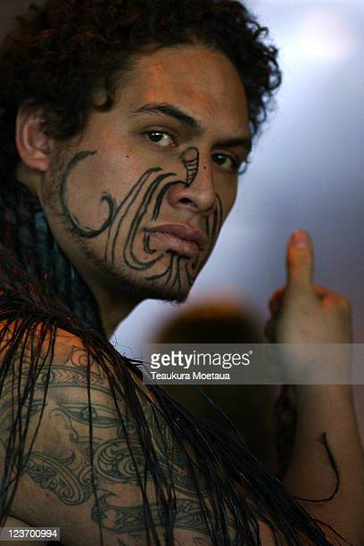 Maori Warrior looks on during the Irish IRB Rugby World Cup 2011 official team welcome ceremony at The Skyline Gondola on September 4 2011 in...